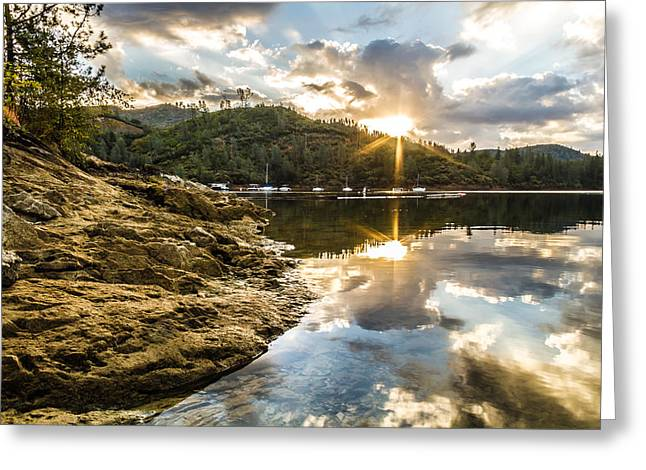 Greeting Card featuring the photograph Whiskeytown Lake Sunrise by Randy Wood