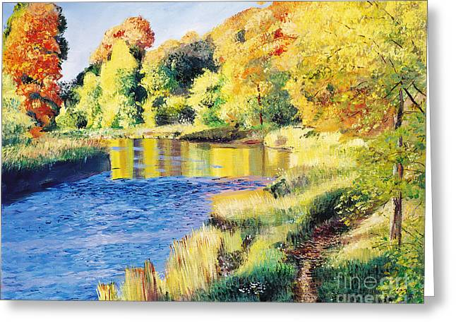 Whispering River Greeting Card by David Lloyd Glover