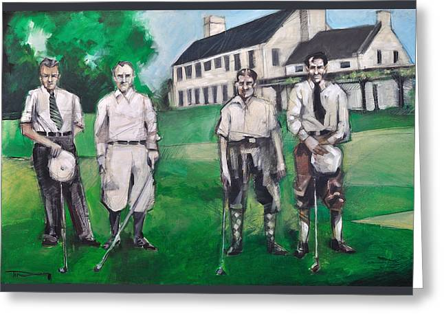 Whistling Straits Boys Greeting Card by Tim Nyberg