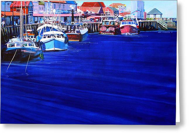 Whitby Fishing Boats Greeting Card by Neil McBride