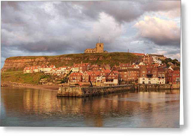 Whitby Harbour Greeting Card by Martin Williams