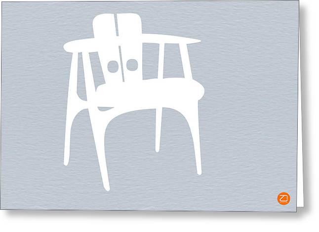 White Chair Greeting Card by Naxart Studio