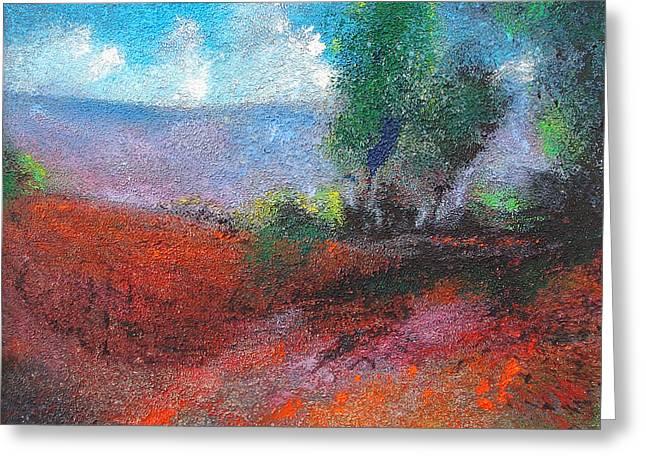 White Clouds Purple Haze Greeting Card by Neil McBride