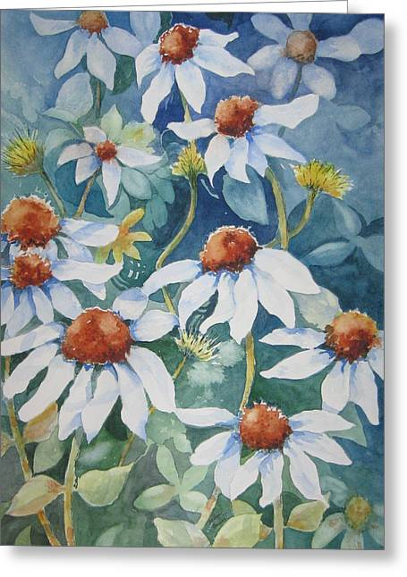 White Coneflowers II Greeting Card