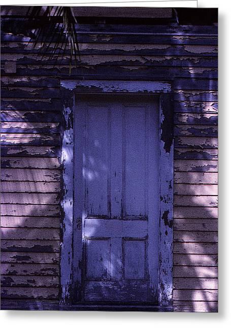 White Door Greeting Card by Bob Whitt