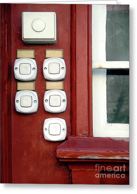 White Doorbells Greeting Card by Carlos Caetano