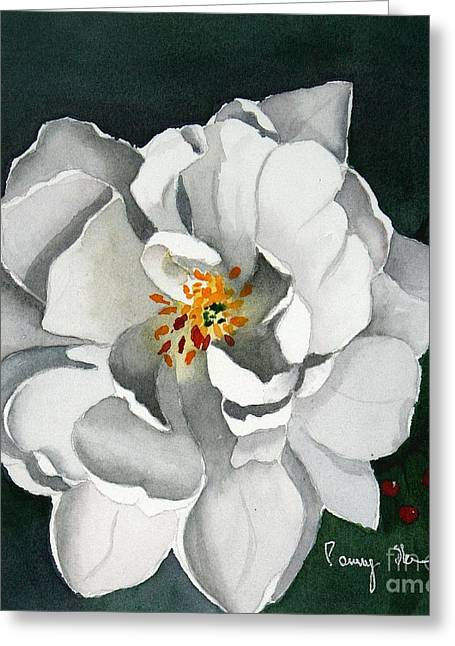 White Double Tulip Greeting Card