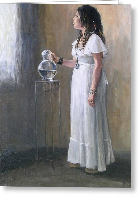 White Dress Greeting Card