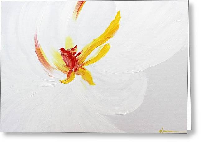 White Flower Greeting Card by Kume Bryant