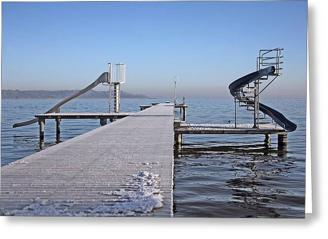 White Frost Slide Greeting Card by Ralf Kaiser