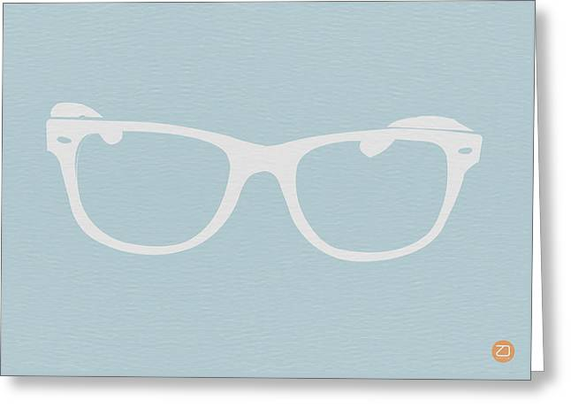White Glasses Greeting Card by Naxart Studio