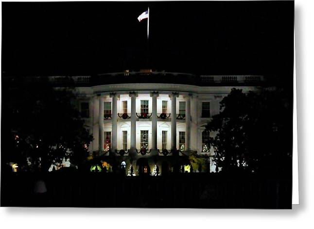 Greeting Card featuring the photograph White House In December by Suzanne Stout