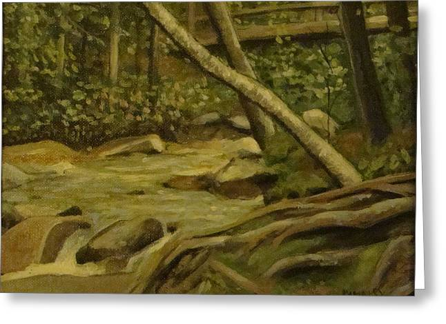 White Mountain Stream Greeting Card by Mark Haley