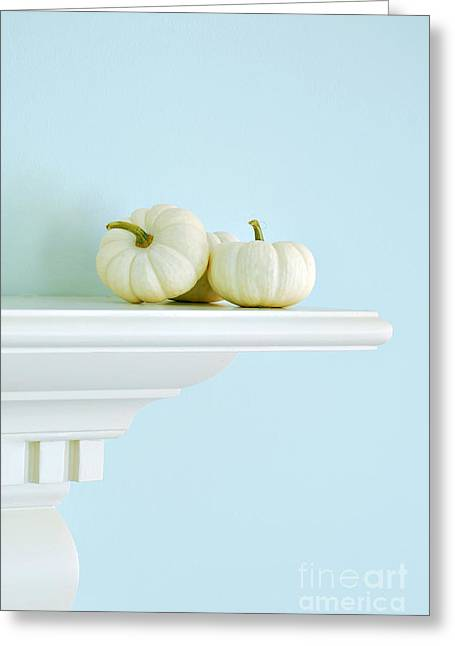 White Pumpkins Greeting Card by HD Connelly