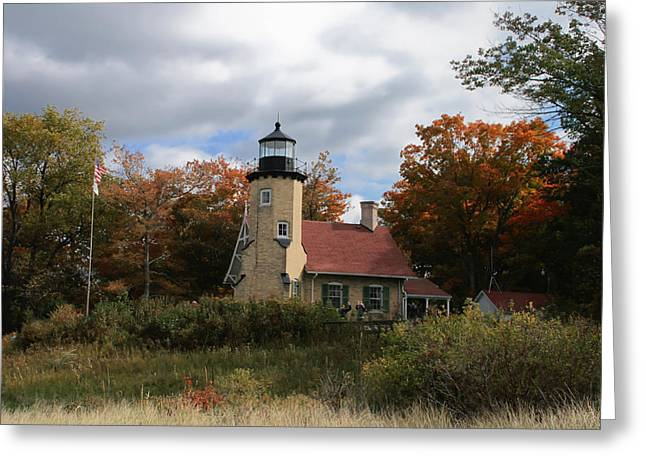 White River Lighthouse Greeting Card by Richard Gregurich