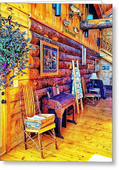 White River Lodge Greeting Card by John Derby