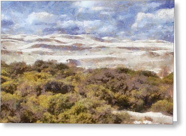 Greeting Card featuring the digital art white sands in Lancelin by Roberto Gagliardi