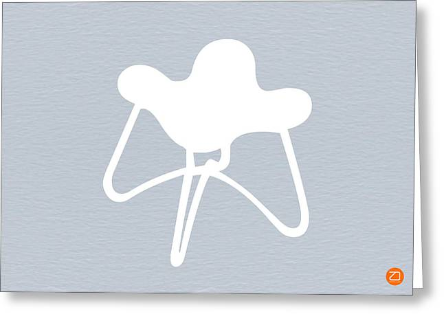 White Stool Greeting Card by Naxart Studio