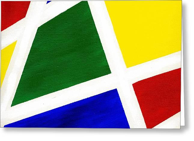 White Stripes 6 Greeting Card by Hakon Soreide