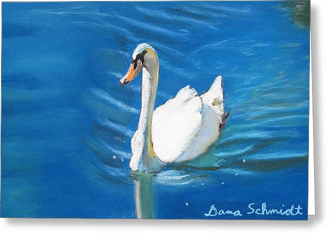 White Swan At Lake Eola Of Orlando Greeting Card