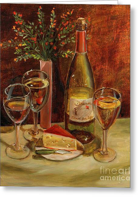 White Wine-dreams Greeting Card