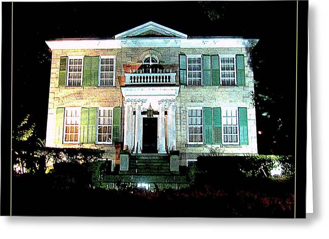 Whitehern Historic House And Garden Greeting Card by Danielle  Parent