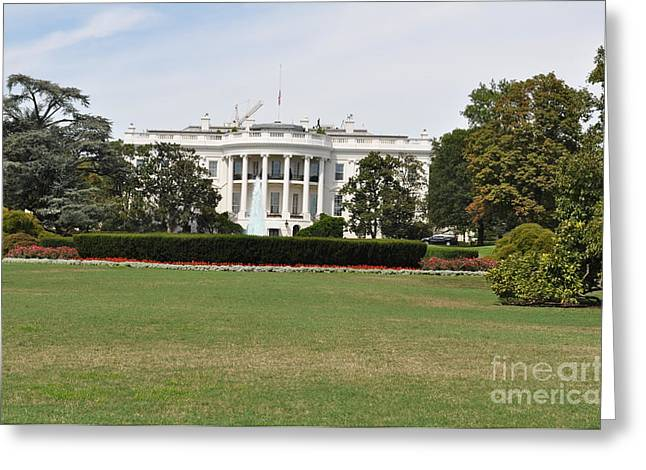 Whitehouse Greeting Card by Lenora Berch