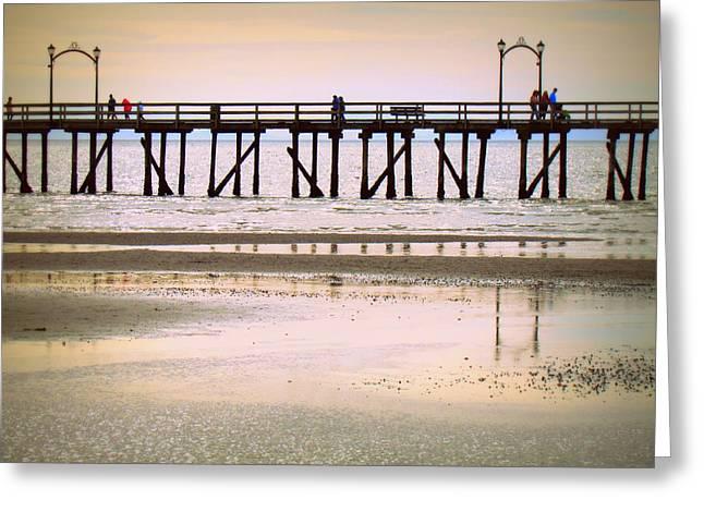 Whiterock Pier II Greeting Card