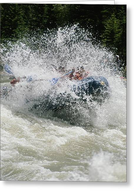 Whitewater Rafting The Lunch Counter Greeting Card by Gordon Wiltsie