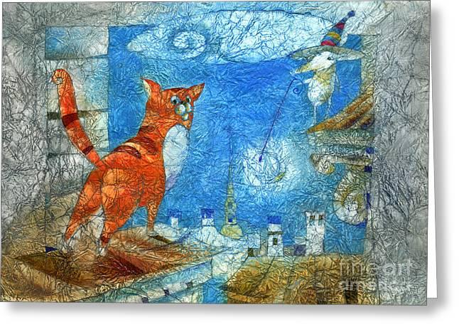 Who Lights The Stars Greeting Card by Svetlana and Sabir Gadghievs