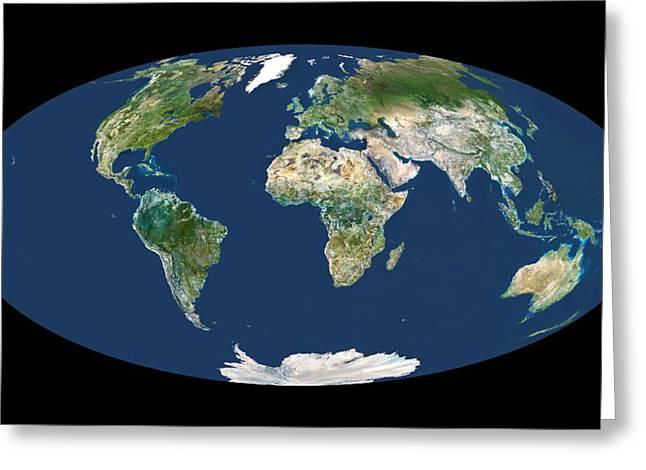 Whole Earth Map Greeting Card