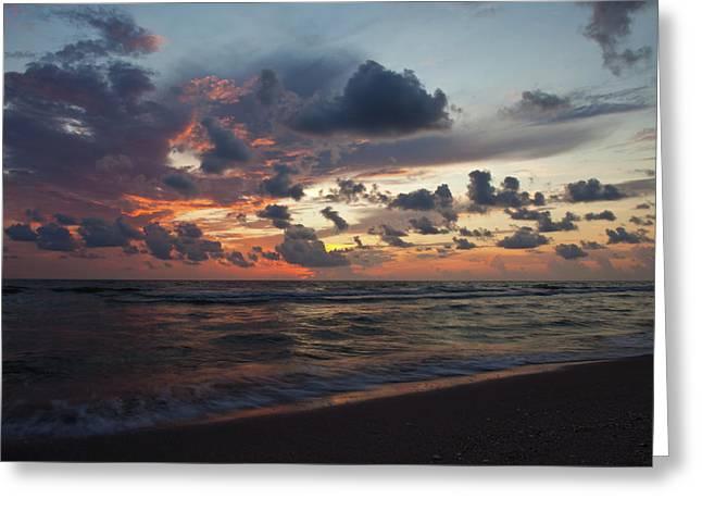 Wiggins Beach Summer Sunset. Greeting Card by Nick  Shirghio