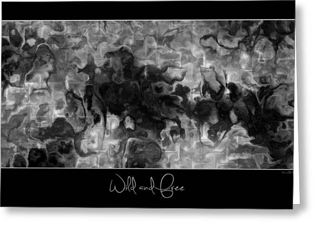 Greeting Card featuring the digital art Wild And Free by Kim Redd