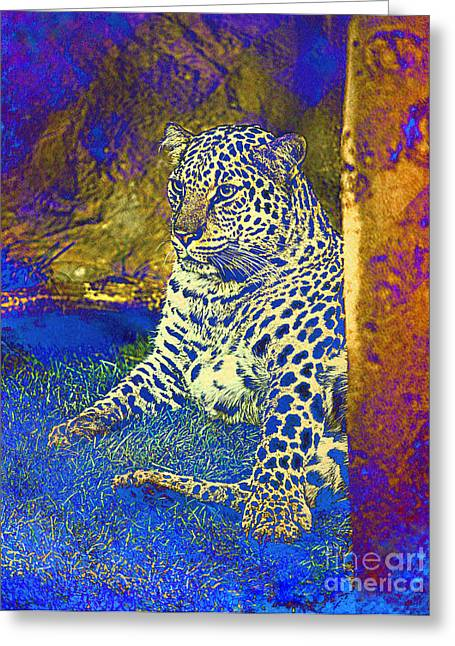 Wild Cat Greeting Card by Irina Hays