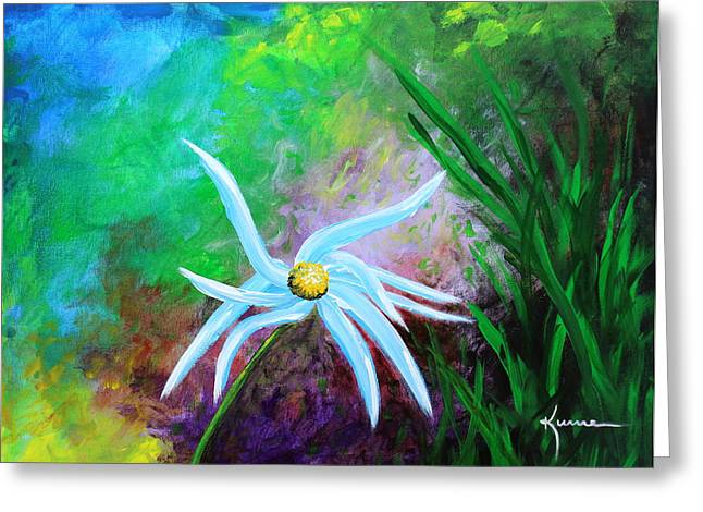 Greeting Card featuring the painting Wild Daisy 2 by Kume Bryant