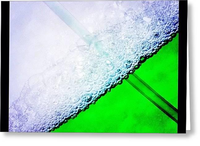 Wild Green Fiendy Liquid Greeting Card