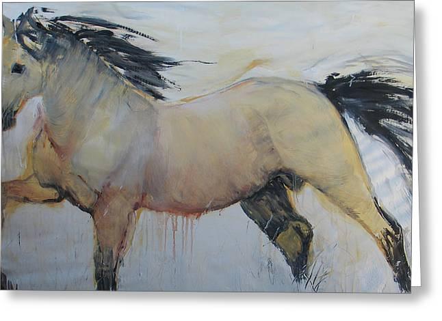 Wild Horse 1 2012 Greeting Card by Elizabeth Parashis