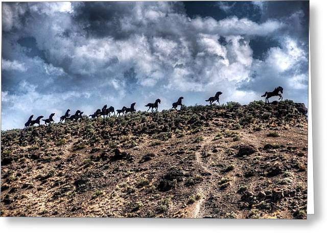 Wild Horses Monument Greeting Card