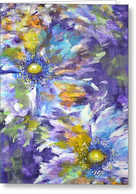 Wild Purple Roses Greeting Card by Kathleen Pio