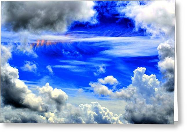 Wild Sky Greeting Card by Bob Jackson