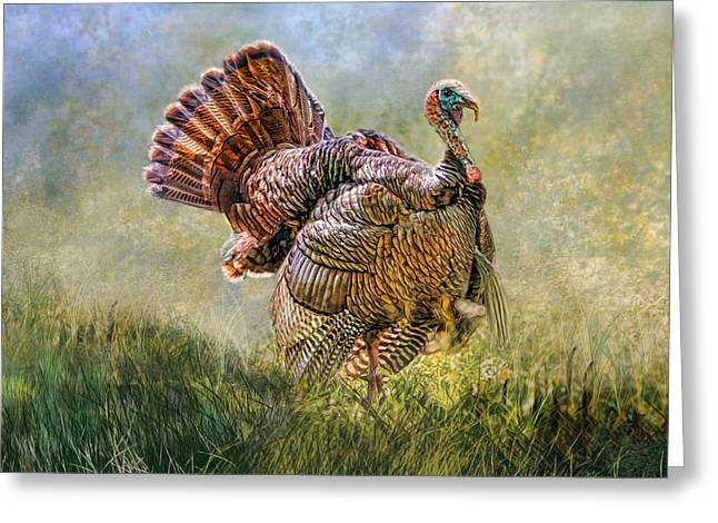 Greeting Card featuring the digital art Wild Turkey by Mary Almond