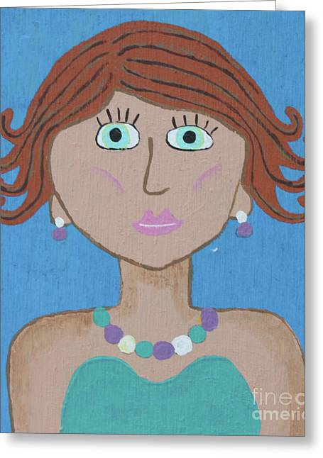 Wild Woman 4 Greeting Card by Marilyn West