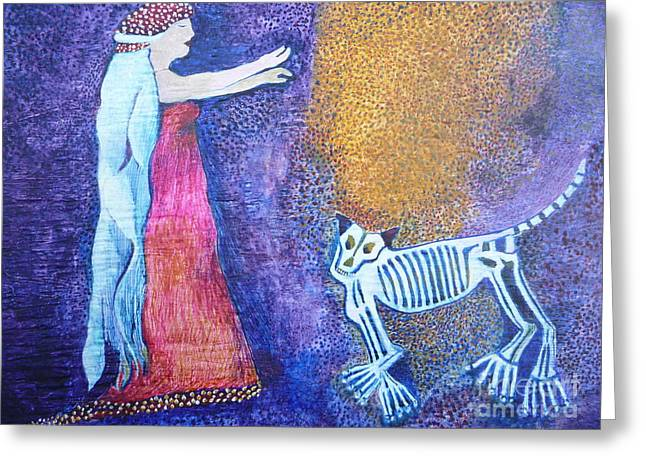 Wild Woman Greeting Card by Catherine Meyers