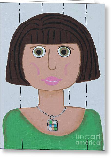 Wild Woman Two Greeting Card by Marilyn West