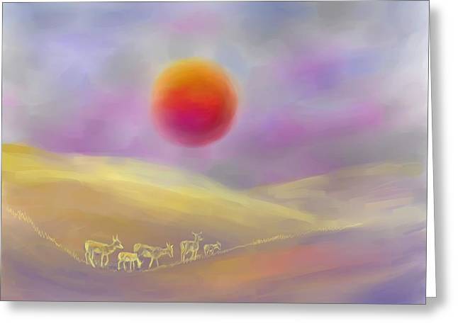 Wildfire Sunrise Greeting Card