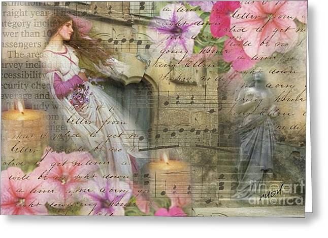 Wildflowers In Stone Greeting Card