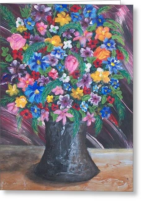 Wildflowers Greeting Card by Jeanette Stewart