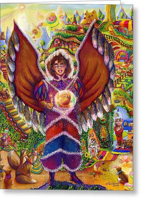 Wildlife Of North America Angel Greeting Card