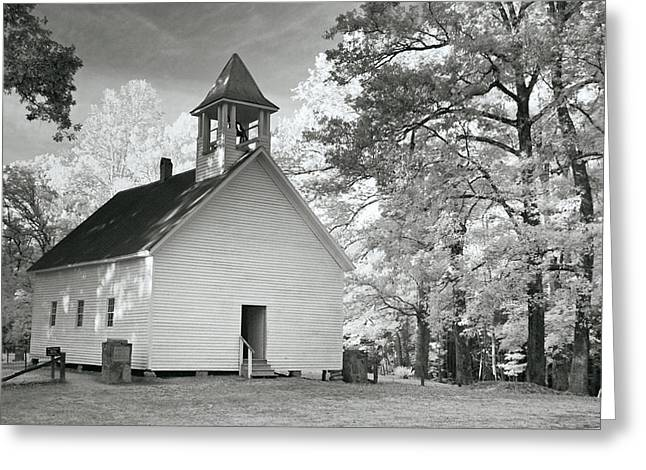 Greeting Card featuring the photograph Wildwood Church by Mary Almond