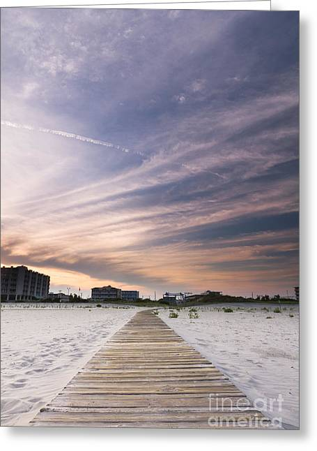 Wildwood Crest New Jersey Sunset Greeting Card by Dustin K Ryan